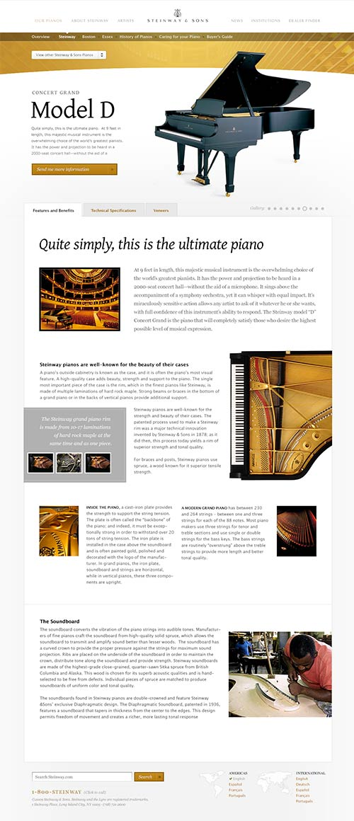 Steinway and Sons Screenshot